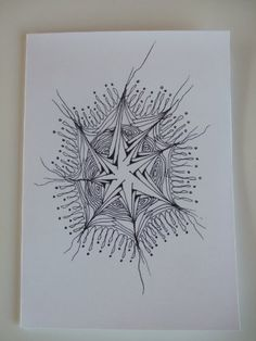 Handcrafted Zentangle Zendoodle Blank Greeting card Drawing in Ink by MIMI PINTO PAPER ART, http://www.amazon.co.uk/dp/B00A4H24B2/ref=cm_sw_r_pi_dp_w33Xrb1H48W9F
