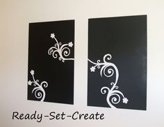 simple art canvas | Not bad huh? Simple yet makes a dramatic statement.