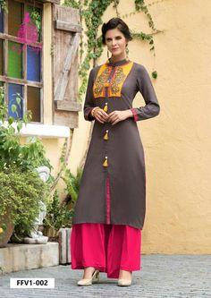 Kurta Designs, Saree Blouse Designs, Dress Designs, Girl Fashion, Fashion Dresses, Fashion Design, Ladies Fashion, Kurti Styles, Dress Styles