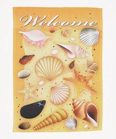 Look at this #zulilyfind! Seashells Outdoor Flag #zulilyfinds