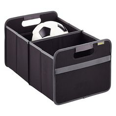 """Container Store - for the back of your car - hold kids things, car safety, or things you need on errands you do. """"Black Foldable Box"""""""