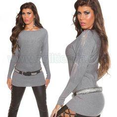 #Jersey @mujer #diseño #holgado de #tejido de #punto #elastico y #suave al #tacto con #brillantes #incrustados para un #look #elegante y #exclusivo en tu dia a #dia #eventos o #fiestas, #diseño #efecto #vestido para #complementar con todo tu #armario. Encuentralo en #Jerseys y #Camisetas de @agiltienda.es #online #shop http://www.agiltienda.com/es/home/2279-vestido-de-punto-holgado-con-brillantes-8400227935734.html