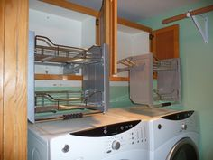 Pull down storage for tall cabinets - no need for stools