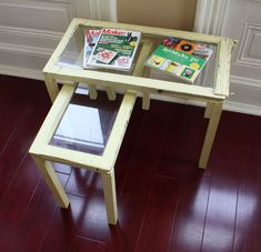 DIY Nesting Tables Made From Old Wood Windows >> http://blog.diynetwork.com/maderemade/how-to/upcycle-old-windows-into-nesting-coffee-tables?soc=pinterest