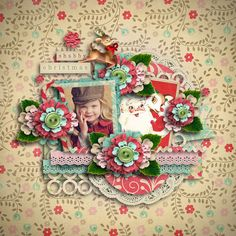 Shabby Christmas Page by @Vick Yang
