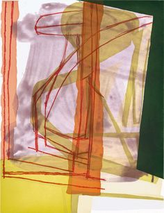 """Amy Sillman – O & N , 2007 Color sugar lift and spit bite aquatints with soft ground etching Paper Size: 35 x 28"""" Edition 20"""