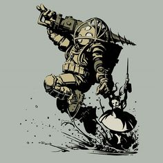 Aha! This is cute... Big D. from Bioshock