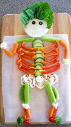 Make a Veggie Skeleton ~ So cute and fun for Halloween