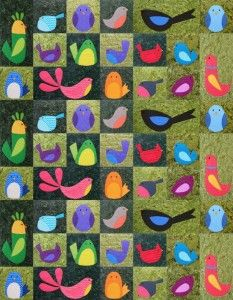 Chirp quilt pattern - twin size - from Shiny Happy World