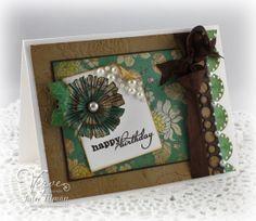 Birthday card by Julee Tilman using Verve Stamps.  #vervestamps