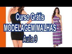 Curso Grátis - Modelagem Malhas - Aula 9 (molde de vestido só no overlock)