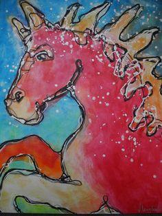 """""""Vuurpaard"""" by Jolanda Lengkeek"""