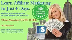 learn affiliate marketing in just for days...try it now