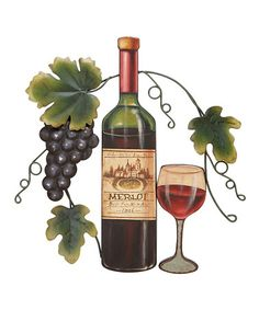 Take a look at this Purple Grape & Wine Wall Art by UMA Enterprises on #zulily today!