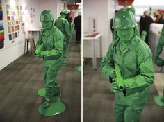 How to make a green army man costume. Love this!