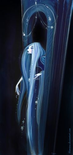 What if there was a twist on the story of Rapunzel where by night she was actually the witch and lured the prince into her tower for the night? --- Rapunzel at Night by ~Blumina on deviantART Illustration Arte, Illustrations, Night Illustration, Rapunzel, Art Magique, Wow Art, Conte, Dark Art, Constellations