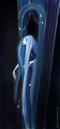 Rapunzel at Night by Blumina