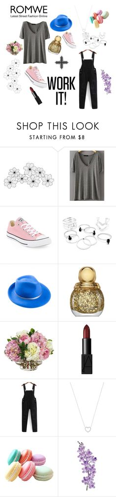 """Без названия #26"" by avfranz ❤ liked on Polyvore featuring WALL, Converse, Mademoiselle Slassi, Christian Dior, Diane James, NARS Cosmetics, Tiffany & Co. and Laura Cole"