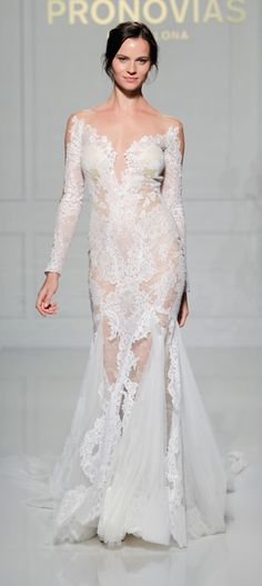 Versal style from Atelier Pronovias 2016 Collection NYC SHOW