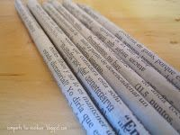 Share your Ecoideas: Pencils with newspaper