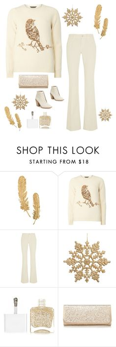 """""""Golden Bird"""" by im-karla-with-a-k ❤ liked on Polyvore featuring Dorothy Perkins, Gucci, Nails Inc., Call it SPRING and Kelsi Dagger Brooklyn"""