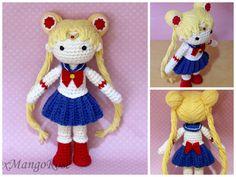 Amigurumi Doll Anime : Curvy female doll base no sew amigurumi crochet pattern girl