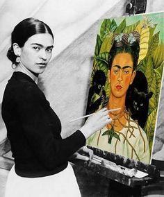 Frida painting her portrait Diego Rivera, Frida E Diego, Frida Art, Frida Kahlo Artwork, Frida Paintings, Original Paintings, Freida Kahlo Paintings, Ouvrages D'art, Mexican Art