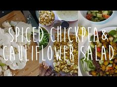 Healthy and Cheap Vegan Dinner | Spiced Chickpea & Cauliflower Salad - YouTube