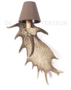 Wunderschöne Wandleuchte hergestellt aus Damhirsch Geweih. - Lampen aus Geweih, Geweihkronleuchter - Lampen, Kronleuchter - De Jong Interieur