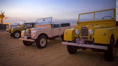 Platinum Heritage operates a small fleet of cheerfully painted classic vehicles.  #dubai #desert #safari