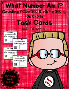 Looking for a fun and interactive way for students to practice number patterns within 100 and enhance their understanding of the base-ten number system?  On each task card, students are provided with a starting number and a set of directions. Beginning with the starting number, students will move forward or backward by 10s or 1s (or multiples of 10s or 1s).