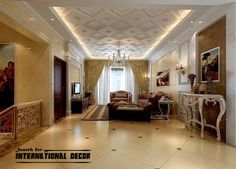 Decorative ceiling tiles with original designs and types