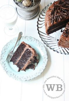 """The Most Amazing Chocolate Cake Ever"" {looks a lot like this recipe [http://allrecipes.com//Recipe/too-much-chocolate-cake/Detail.asp] but with a way better photo}"