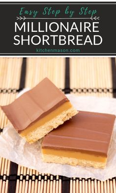 I want to try this classic millionaire's shortbread recipe first! Caramel Recipes, Brownie Recipes, Cookie Recipes, Dessert Recipes, Cook Desserts, Chocolate Recipes, Caramel Shortbread, Shortbread Recipes, Shortbread Bars