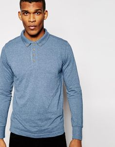 """Polo shirt by Brave Soul Soft-touch jersey Ribbed polo collar Four button placket Regular fit - true to size Machine wash 65% Polyester, 35% Cotton Our model wears a size Medium and is 188cm/6'2"""" tall"""