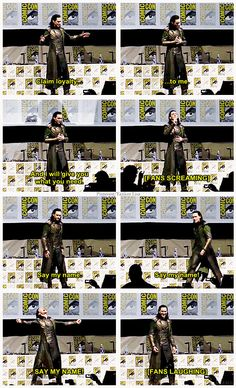 This is too awesome, Loki at Comic Con, I wish I had been there but I will get to go one day!!!!!!!