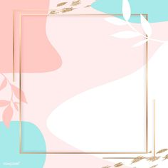 Square golden frame on a colorful Memphis pattern background vector | premium image by rawpixel.com / nunny #vector #vectoart #digitalpainting #digitalartist #garphicdesign #sketch #digitaldrawing #doodle #illustrator #digitalillustration #modernart #frame