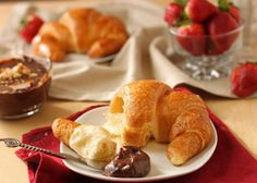 Croissants with chocolate butter in the morning? YES, PLEASE!