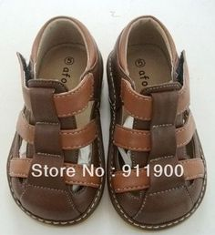 #L132 Brown Size 2 3 4 5 6 7 8 9  Free Shipping Baby Boy Squeaky sandals Kids Boy Sandals 0-3Y on AliExpress.com. $11.50