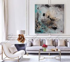 Turquoise Black and Gold Watercolor Painting por JuliaApostolova