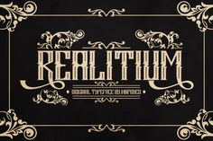 Realitium Font By Wnprhco