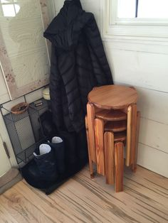 """tinyhallhouse: """"We wanted to share our beautiful stacking stools! We had them…"""