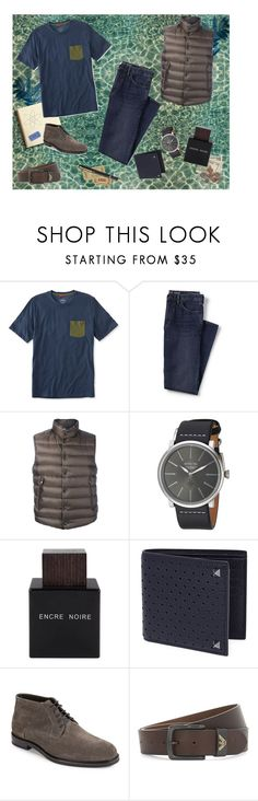 """For men"" by antonelamarc ❤ liked on Polyvore featuring L.L.Bean, Lands' End, Moncler, Invicta, Lalique, Valentino, HUGO, Armani Jeans, men's fashion and menswear"