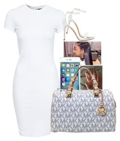 A fashion look from April 2016 featuring tall dresses, white shoes and michael kors satchel. Sexy Outfits, Cute Outfits, Fashion Outfits, Graduation Nails, Teenager Outfits, Polyvore Outfits, Zara, Michael Kors, Summer Dresses