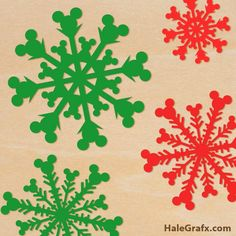 Christmas Mickey Mouse Snowflakes