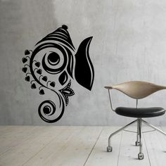 Art Design Ganesha Wall Decals Vinyl Stickers Home Decor Indian Elephant Removable Wall Sticker $13.95
