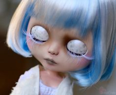 Jacqueline is RESERVED For F. Please do not purchase unless you are F.!  3rd payment.$287.50 already recieved. Total cost of Jacqueline is $425 plus ship.  ----------  -Jacquelines theme is a pale and ethereal spirit made of ice. -Jacqueline is a one of a kind Custom Blythe doll. She is my 98th custom Blythe doll. -A lot of time, thought,effort, and love went into making Jacqueline. -Jaqueline is originally a TBL Blythe doll. -Jacqueline will be packaged securely with care.  WORK DONE…