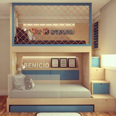 35 amazing kids bedroom decoration ideas page 25 Cool Kids Bedrooms, Kids Bedroom Designs, Bunk Bed Designs, Home Room Design, Baby Room Design, Awesome Bedrooms, Cool Rooms, Modern Kids Bedroom, Nursery Design