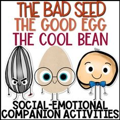 The Bad Seed, The Good Egg, and The Cool Bean Book Companion Activities Social Emotional Activities, Counseling Activities, Classroom Activities, Book Activities, Group Counseling, Elementary School Counseling, School Social Work, School Counselor, Elementary Schools
