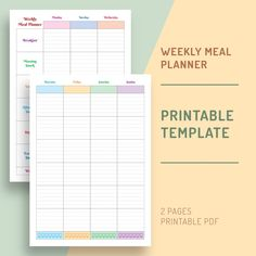 Start planning your life and get 10x more organized with the Weekly Meal Planner Printable Template designed to help you master your time and get things done faster. It comes in a ready-to-print format, so you can print it out at home or office and start using it today. Best Weekly Planner, Weekly Meal Planner Template, Monthly Meal Planner, Time Planner, Weekly Planner Printable, Planner Pages, Diary Planner, Planner Sheets, Planner Journal